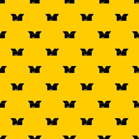 Opened cardboard box pattern seamless vector repeat geometric yellow for any design