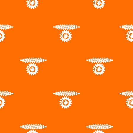 Worm gear pattern vector orange Illustration