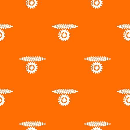 Worm gear pattern vector orange Ilustracja