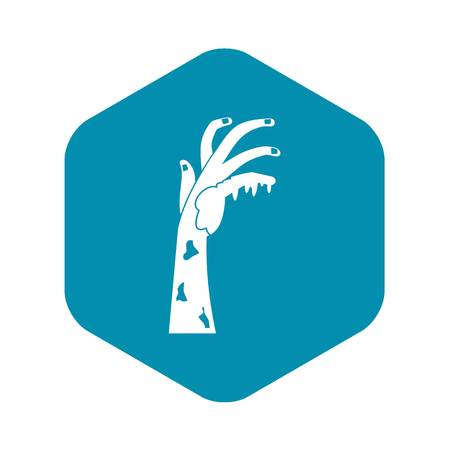 Zombie hand icon. Simple illustration of zombie hand vector icon for web
