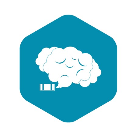 Tear gas icon. Simple illustration of tear gas vector icon for web Ilustração