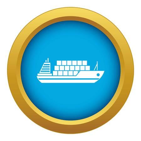 L'icône de cargo vecteur bleu isolé sur fond blanc pour toute conception