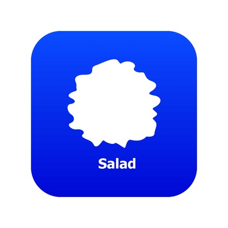 Salad icon blue vector isolated on white background 向量圖像