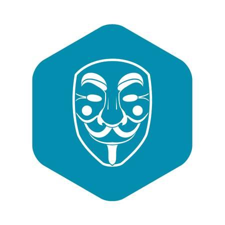 Vendetta mask icon, simple style