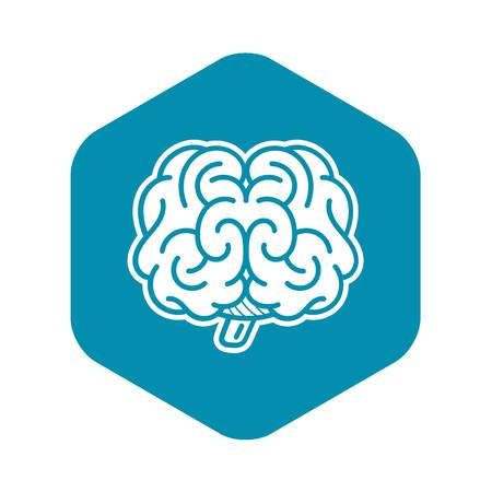 Front brain icon. Simple illustration of front brain vector icon for web design isolated on white background