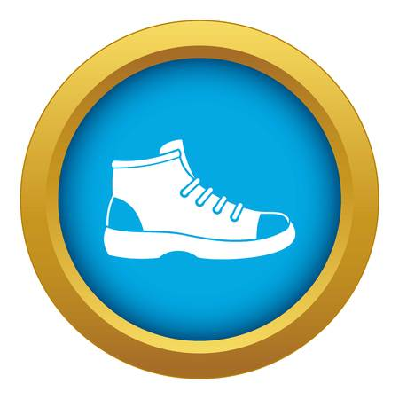 Tourist shoe icon blue vector isolated on white background for any design