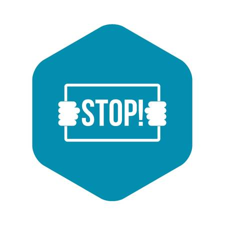 Stop icon, simple style