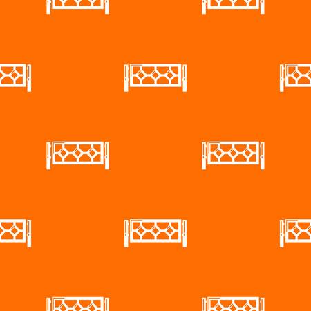 Fence pattern vector orange