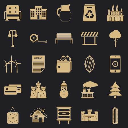 Top drawer icons set. Simple set of 25 top drawer vector icons for web for any design 矢量图像