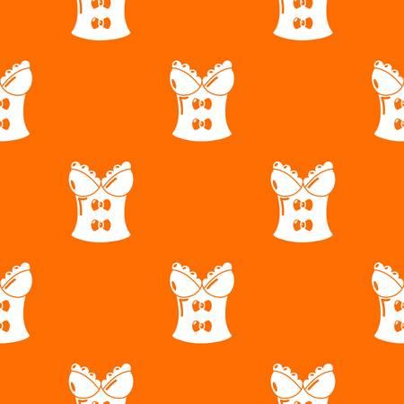 Brassiere shop pattern vector orange
