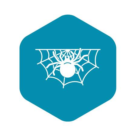Spider home icon. Simple illustration of spider home vector icon for web design isolated on white background