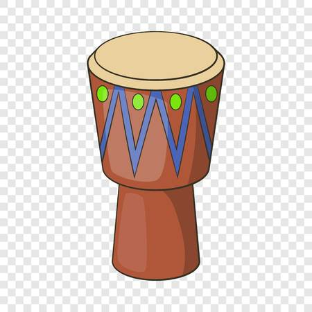 Ethnic drum icon. Cartoon illustration of ethnic drum vector icon for web Illustration