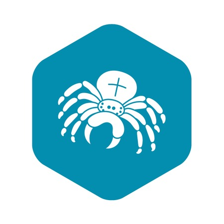 Cross spider icon. Simple illustration of cross spider vector icon for web design isolated on white background Illustration