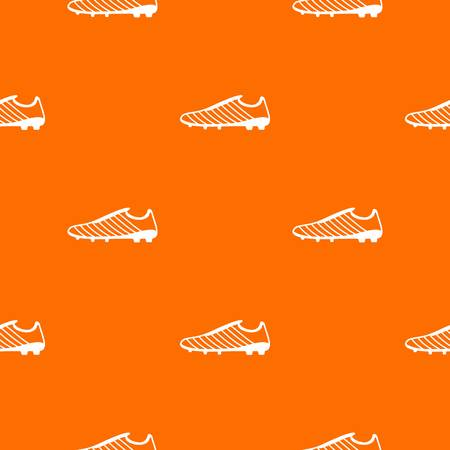 Football boots pattern vector orange for any web design best Illustration