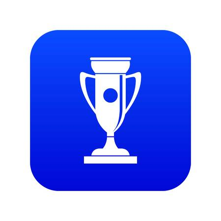Winning cup icon digital blue for any design isolated on white vector illustration Illustration