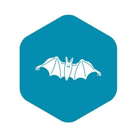 Night bat icon, simple style