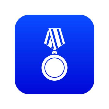 Winning medal icon digital blue for any design isolated on white vector illustration