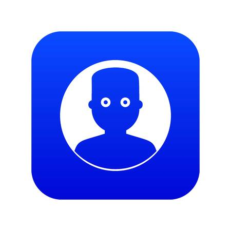 Man in the dark icon digital blue for any design isolated on white vector illustration Ilustração