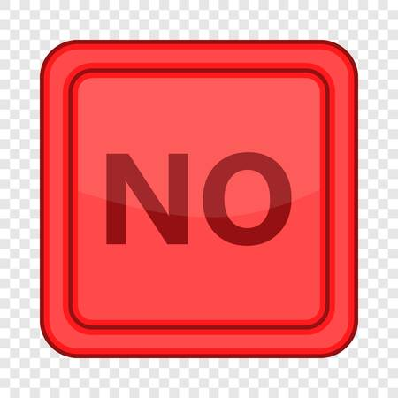 No red square label icon, cartoon style
