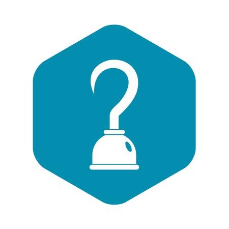 Hook icon, simple style Stock Illustratie