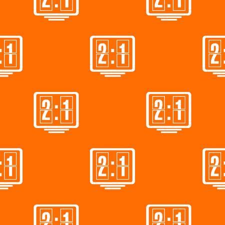 Football scoreboard pattern vector orange for any web design best