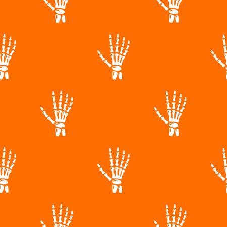 Inflammation of hand pattern vector orange Illustration