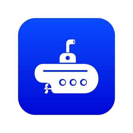 Bathyscaphe with periscope icon blue vector Vektorové ilustrace