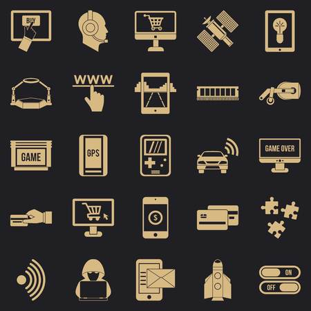Augmented reality icons set. Simple set of 25 augmented reality vector icons for web for any design