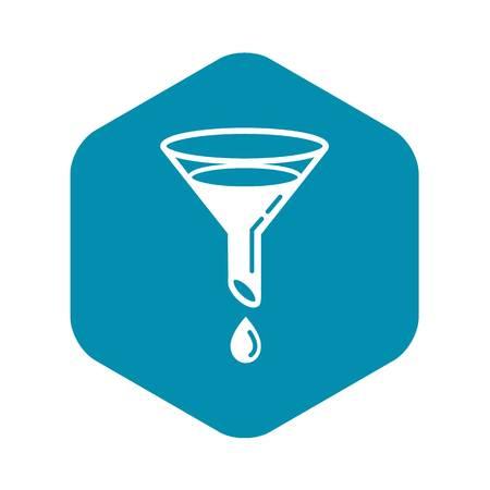Wasserfilter-Symbol. Einfache Illustration der Wasserfiltervektorikone für das Webdesign lokalisiert auf weißem Hintergrund