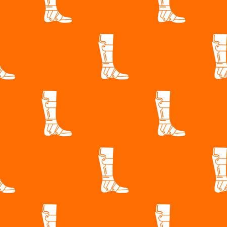 Leg in retainer pattern vector orange