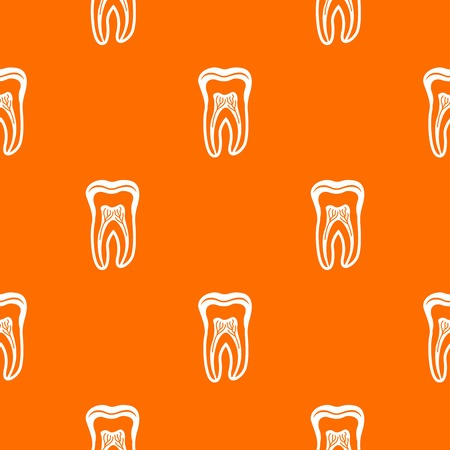 Tooth structure pattern vector orange for any web design best