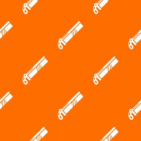Medical saw pattern vector orange