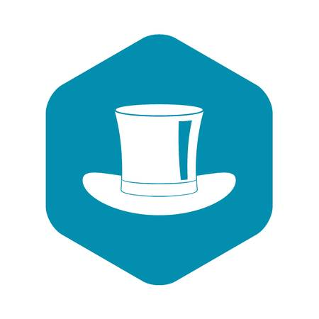 Silk hat icon, simple style