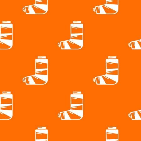 Foot in plaster pattern vector orange Illustration