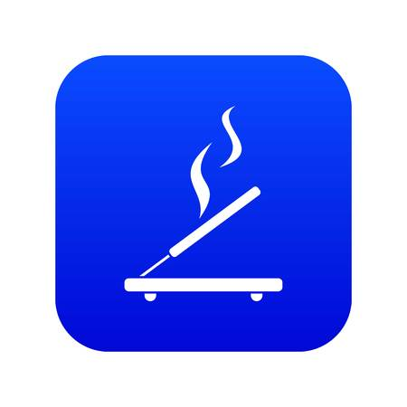 Incense sticks icon digital blue for any design isolated on white vector illustration