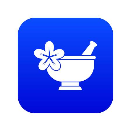 Mortar and pestle pharmacy icon digital blue for any design isolated on white vector illustration Illustration