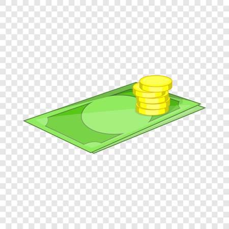 Money icon, cartoon style