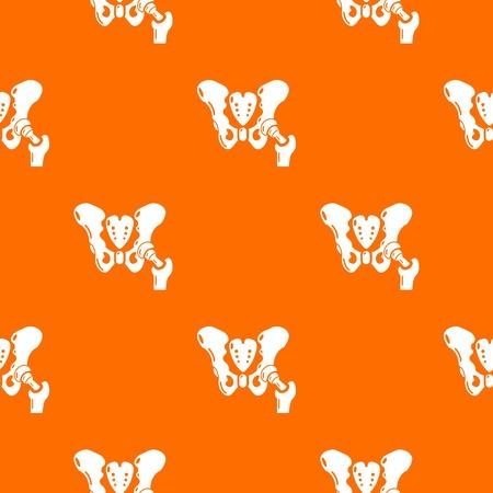 Hip bone pattern vector orange