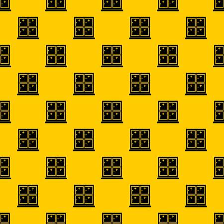 Cells for storage in the supermarket pattern seamless vector repeat geometric yellow for any design Archivio Fotografico - 130240371