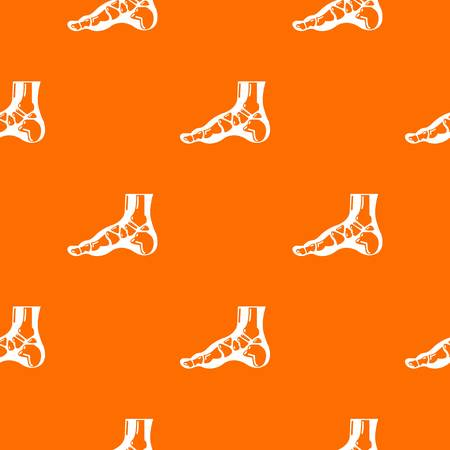 Xray of foot pattern vector orange