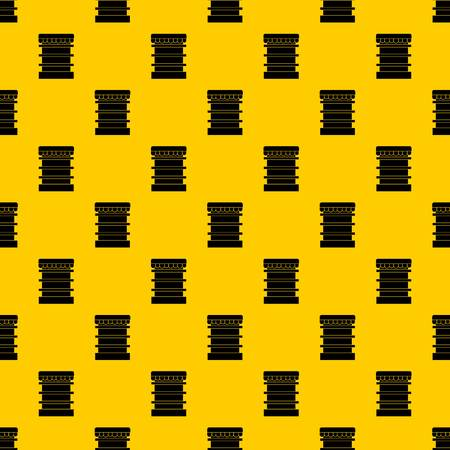 Empty supermarket refrigerator pattern seamless vector repeat geometric yellow for any design