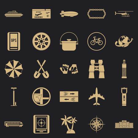 Voyage icons set. Simple set of 25 voyage vector icons for web for any design