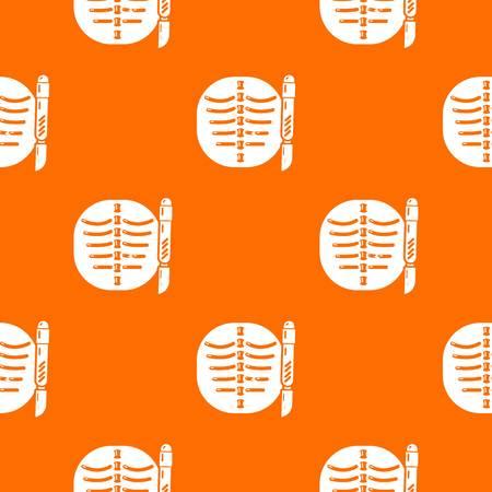 Xray of rib pattern vector orange