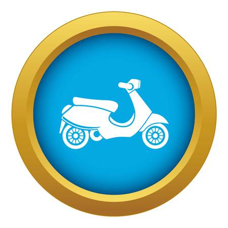 scooter icon blue vector isolated