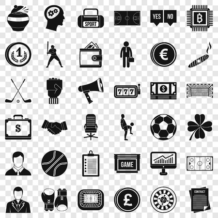 Totalizator icons set, simple style