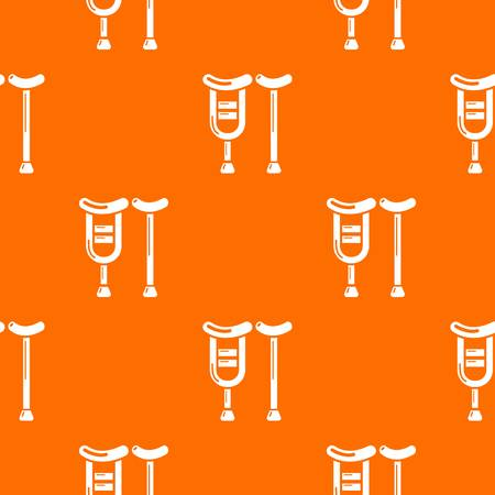 Crutch pattern vector orange