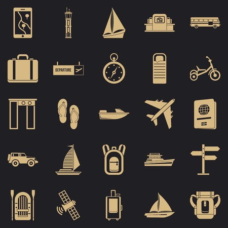 Voyage spot icons set. Simple set of 25 voyage spot vector icons for web for any design