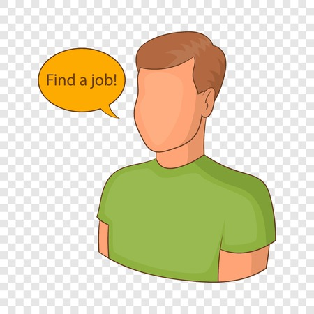 Find a job icon, cartoon style 向量圖像