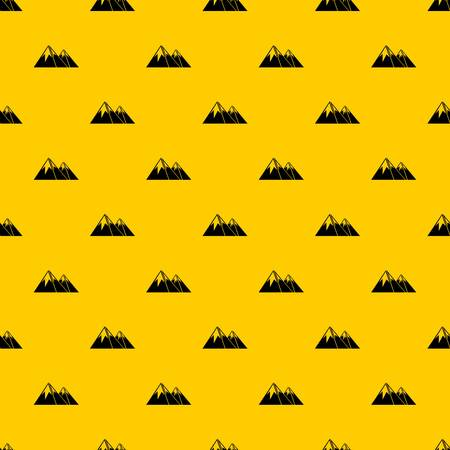 Mountains with snow pattern seamless vector repeat geometric yellow for any design