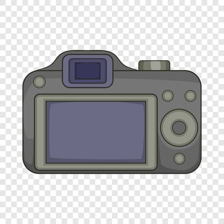 Photocamera icon, cartoon style